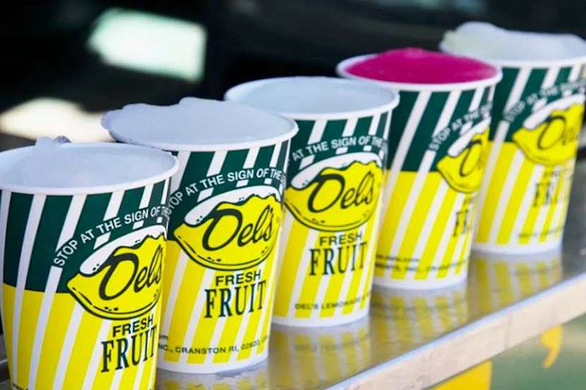 A sip of Del's and you'll swear summer is around the corner. Image courtesy of Del's Lemonade's Facebook page.