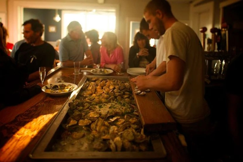 Pond to plate–as fresh as an oyster gets. Image courtesy of Matunuck Oyster Bar's Facebook page.