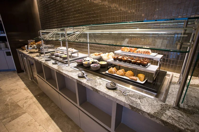 There are plenty of pastries to go around in the buffet section.