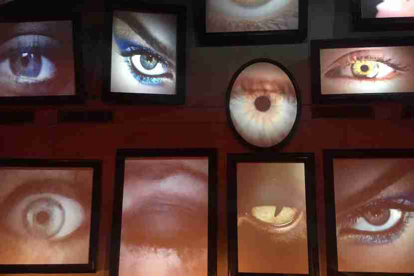 A wall of eyes at Black stare back. Image courtesy of the author.