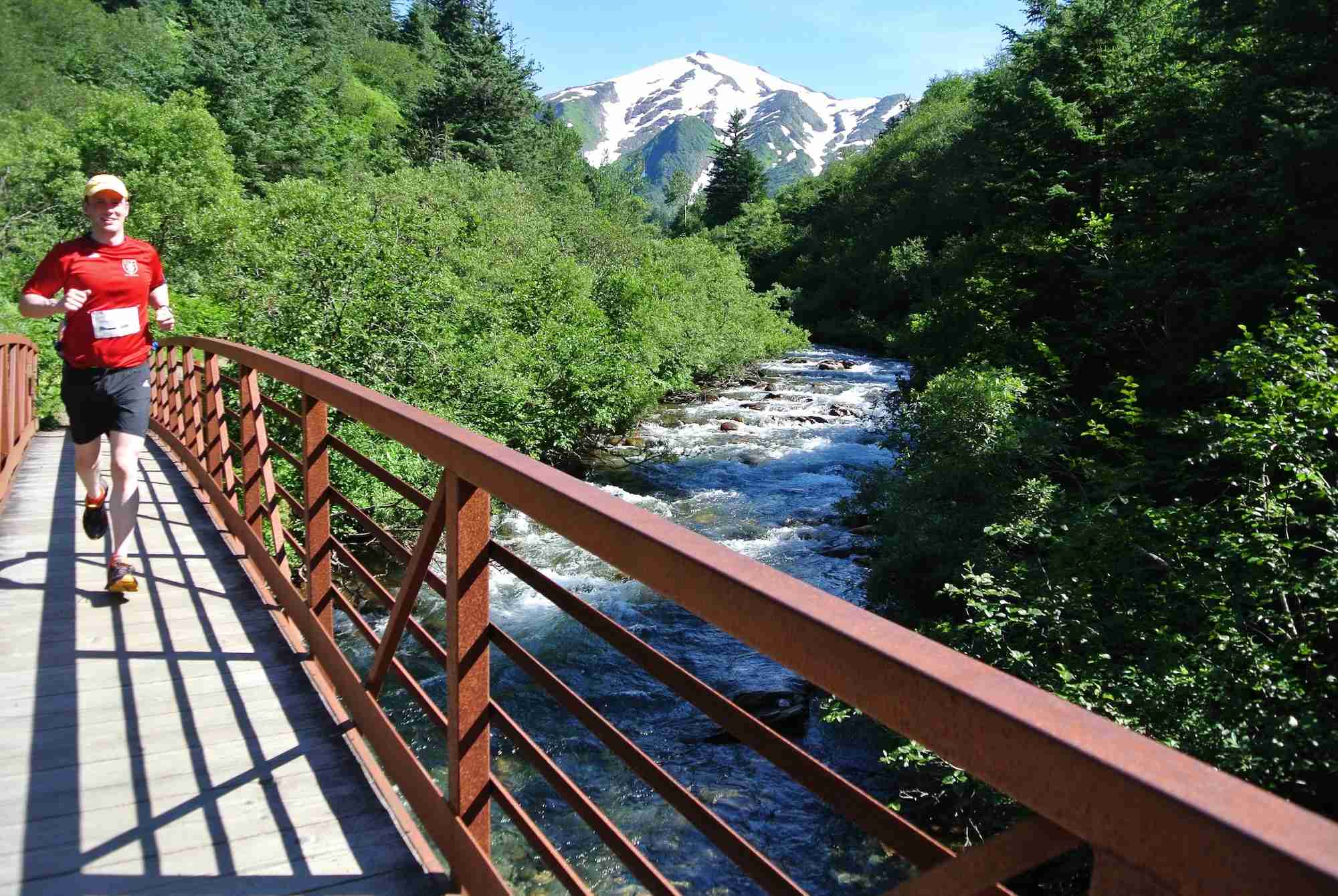 """Break a sweat against a breathtaking backdrop. Image courtesy of <a href=""""https://www.runningcruise.com/package/alaska-2017/"""" target=""""_blank"""">Marathon Expeditions</a>."""