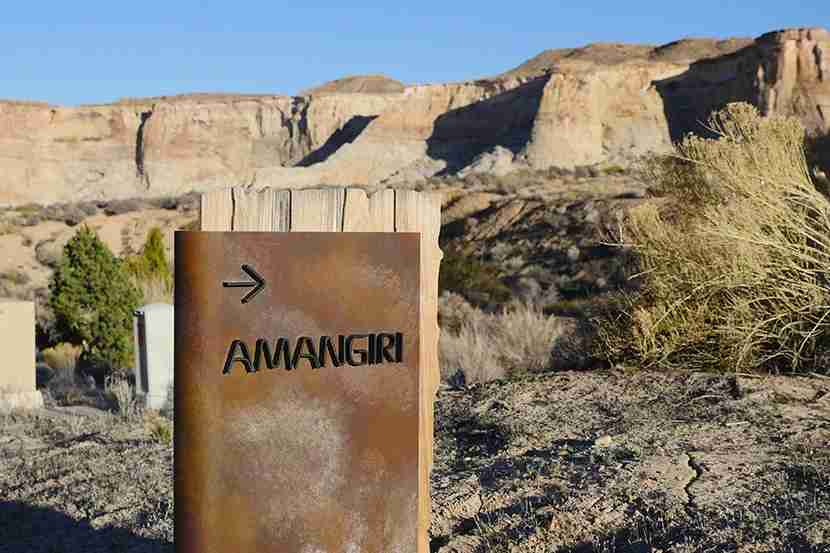 Amangiri property sign
