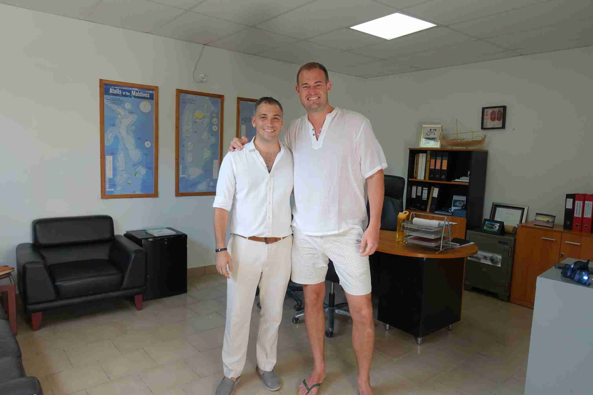 The general manager of the Park Hyatt Maldives, Mariano Silvestri, gave me a tour of the resort.