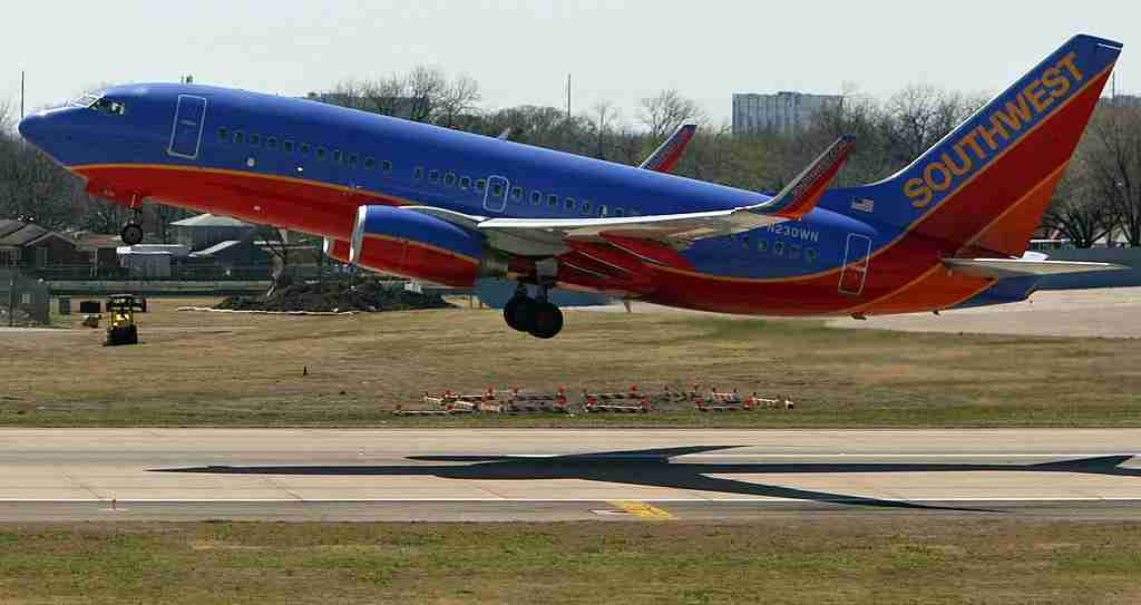 DALLAS - MARCH 12: Southwest Airlines planes take off from the airline