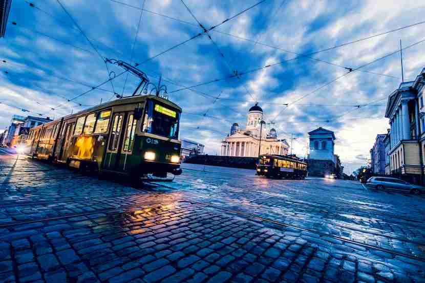 Trams are a reliable and fun way to get around town. Image courtesy of Werner Nystrand / Folio via Getty Images.
