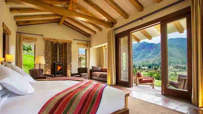 There are some fabulous lodges in the Sacred Valley, including the Inkaterra Hacienda Urubamba, which opened in 2015. Image courtesy of Inkaterra.