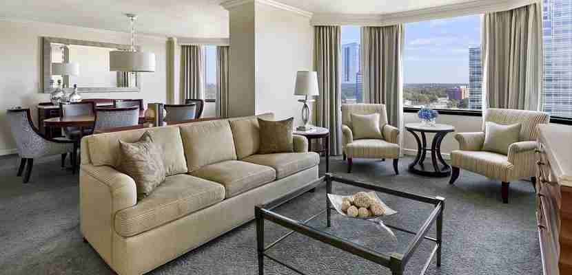 A suite at the Ritz Carlton Buckhead. Image courtesy Ritz Carlton/Marriott