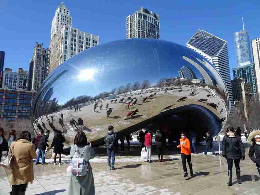 "The famous ""bean"" in Chicago"