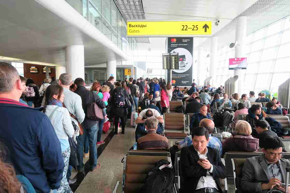Aeroflot SVO-JFK boarding