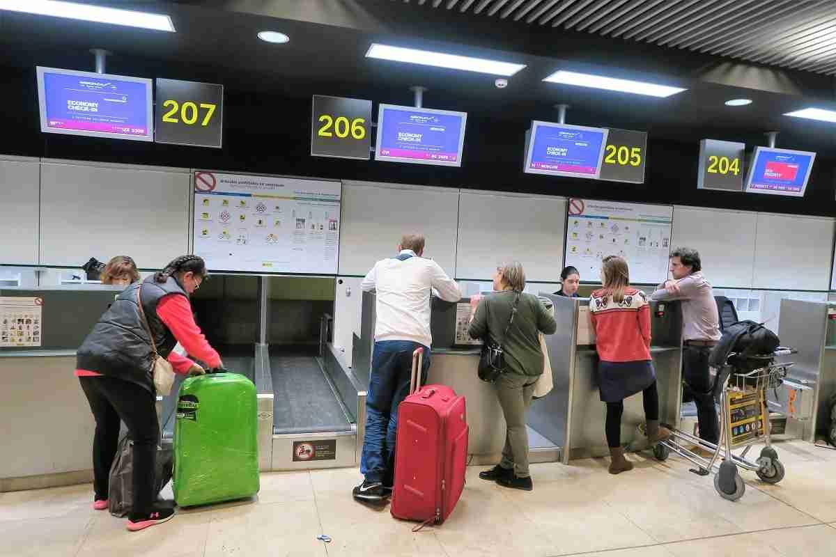 Aeroflot check-in Madrid