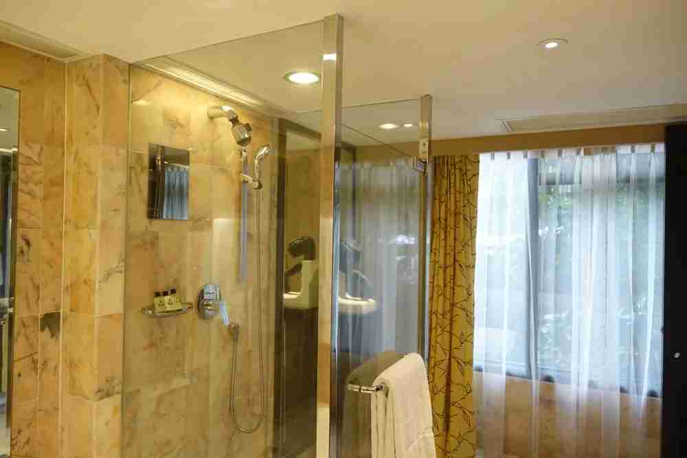 Shower and window.