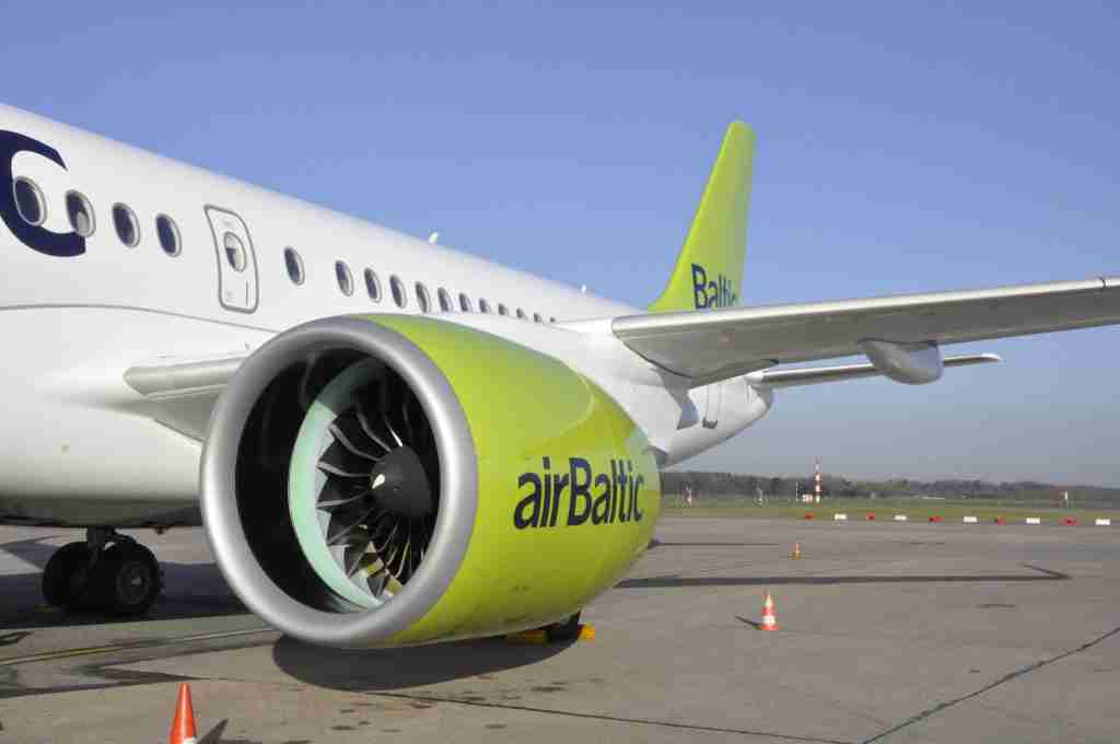 Air Baltic CS300 aft fuselage and tail.