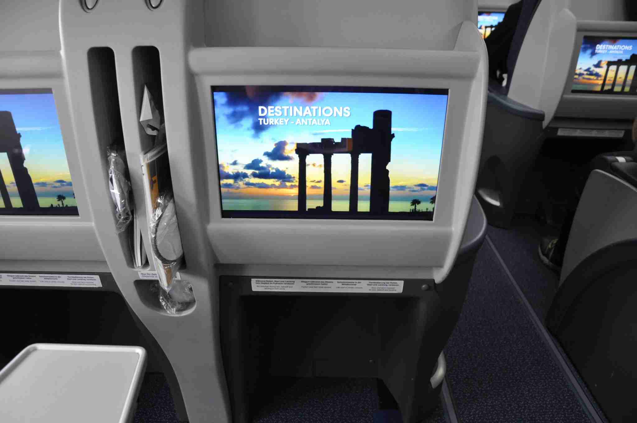 The 15-inch touchscreen monitors found in Business Class on Condor
