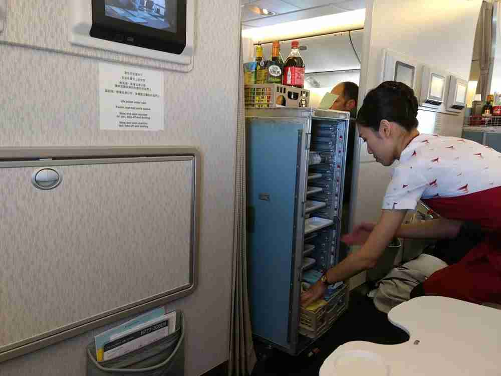 The food service was pretty much the same in economy and premium economy.