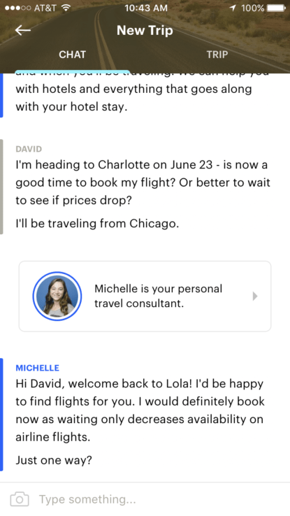 Tired of talking to no one? Lola replaces technology with actual human beings.