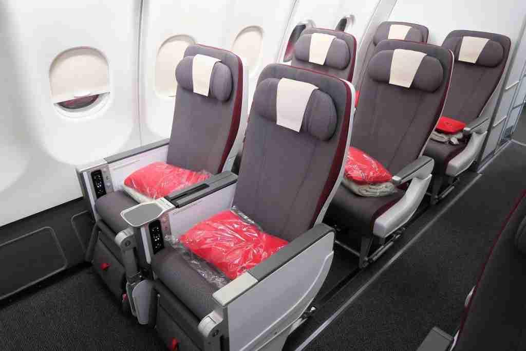 Iberia A340-600 Premium Economy window seat pairs