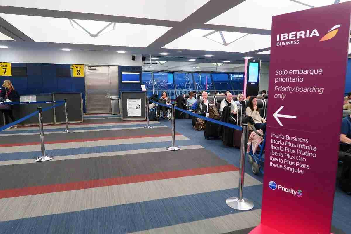 Iberia A340 Priority Boarding JFK Terminal 7