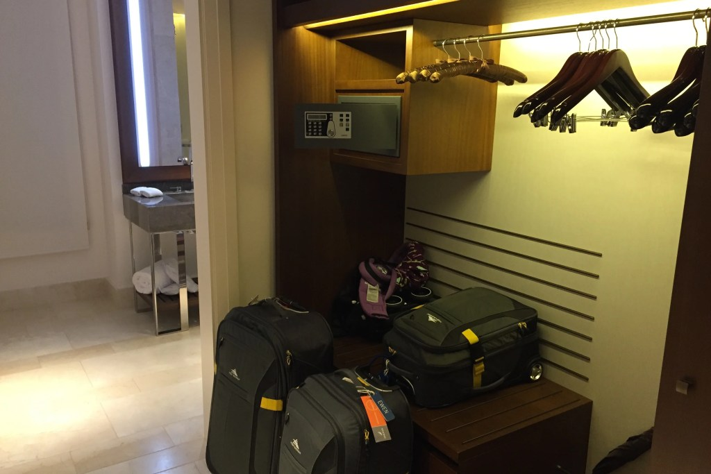 Park Hyatt Mallorca closet and luggage