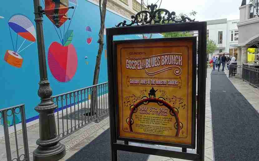 Though the event was sold out, ads were still on display at The Grove.