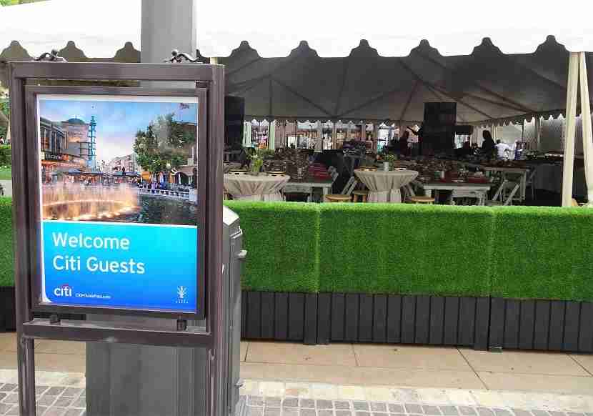 Citi branded signs were all around the tented event.