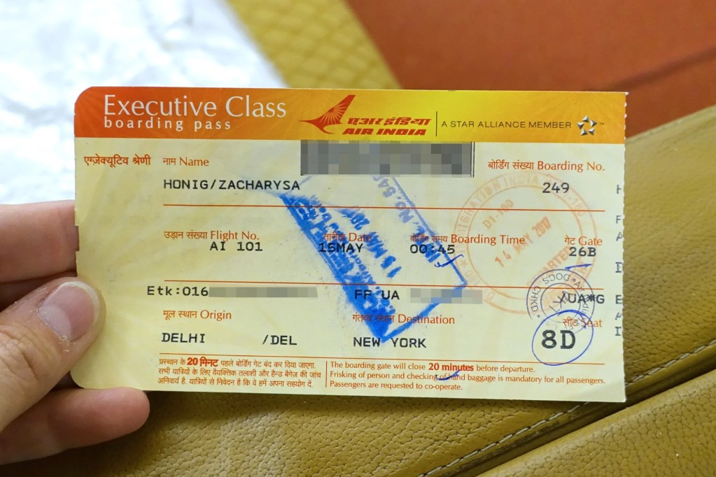 Review Air India 777 300er Business From Delhi To Nyc