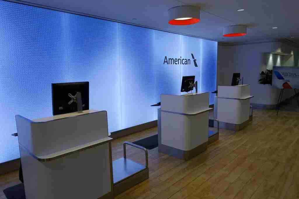 Flagship First Check-In desks