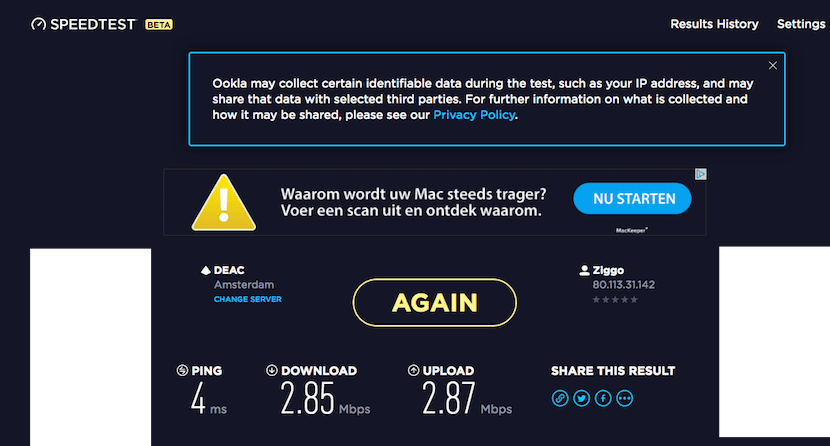 The Wi-Fi was decent.