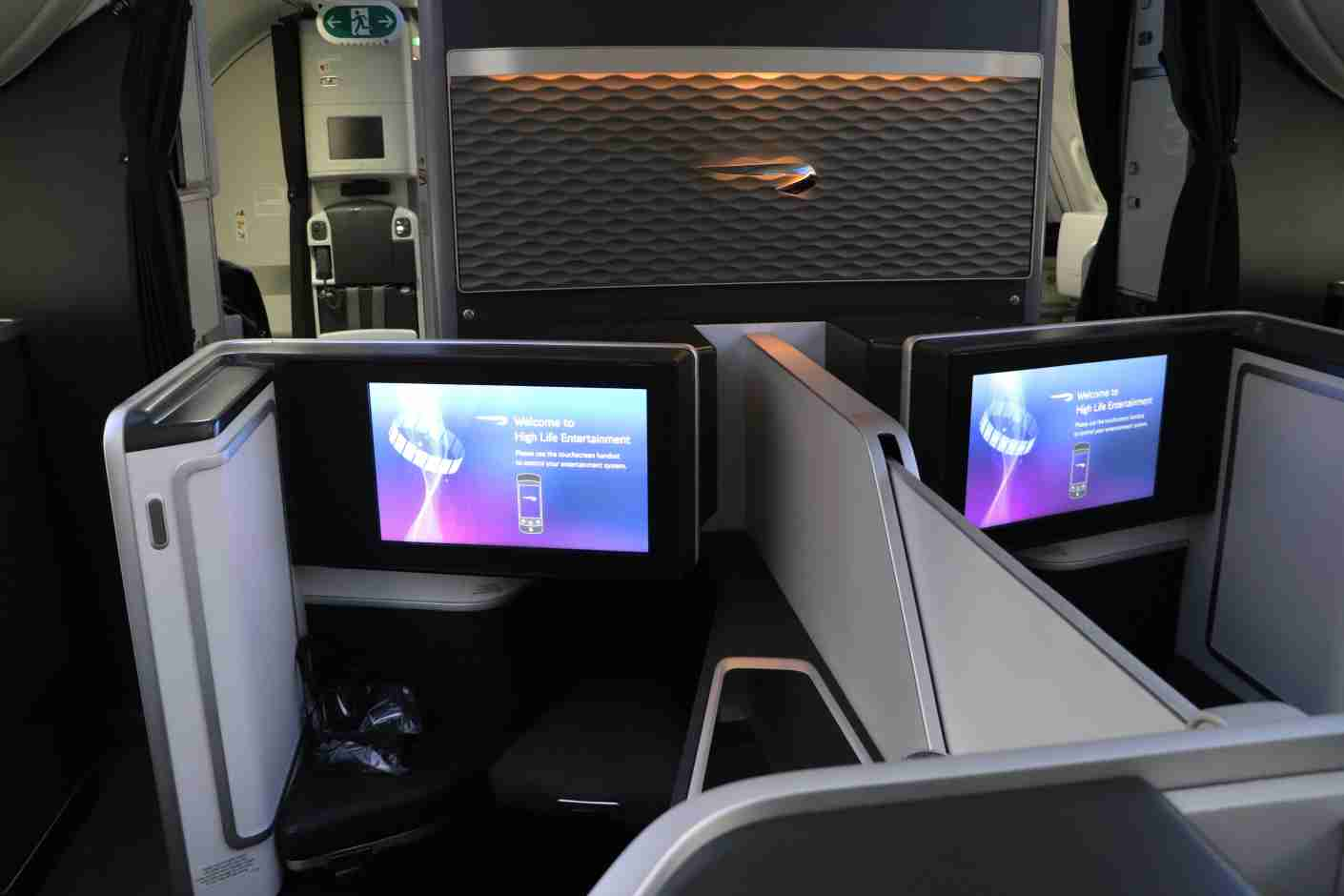 British Airways 787-9 First seats 1E and 1F.