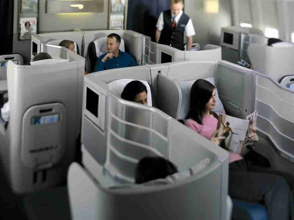A more evolved version of British Airways, yin-yang style reverse business class seating. Image courtesy of British Airways.