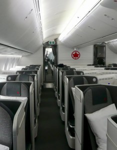 also managed to get  quick peek at the premium economy cabin which is spread out over three rows in configuration seats looked comfortable review air canada business class tokyo toronto rh thepointsguy