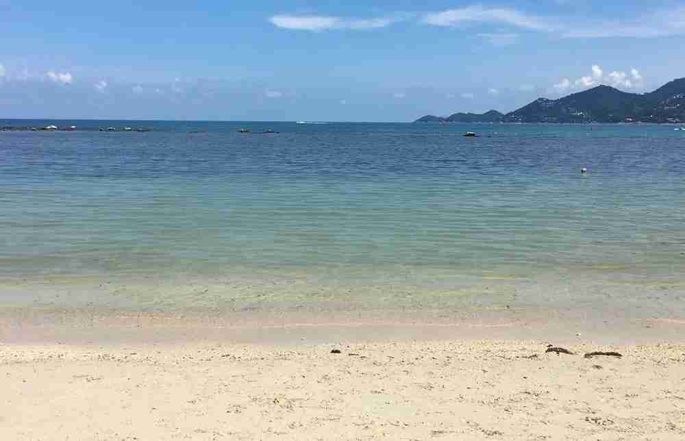 An empty beach on Koh Samui. Photo by Lori Zaino.