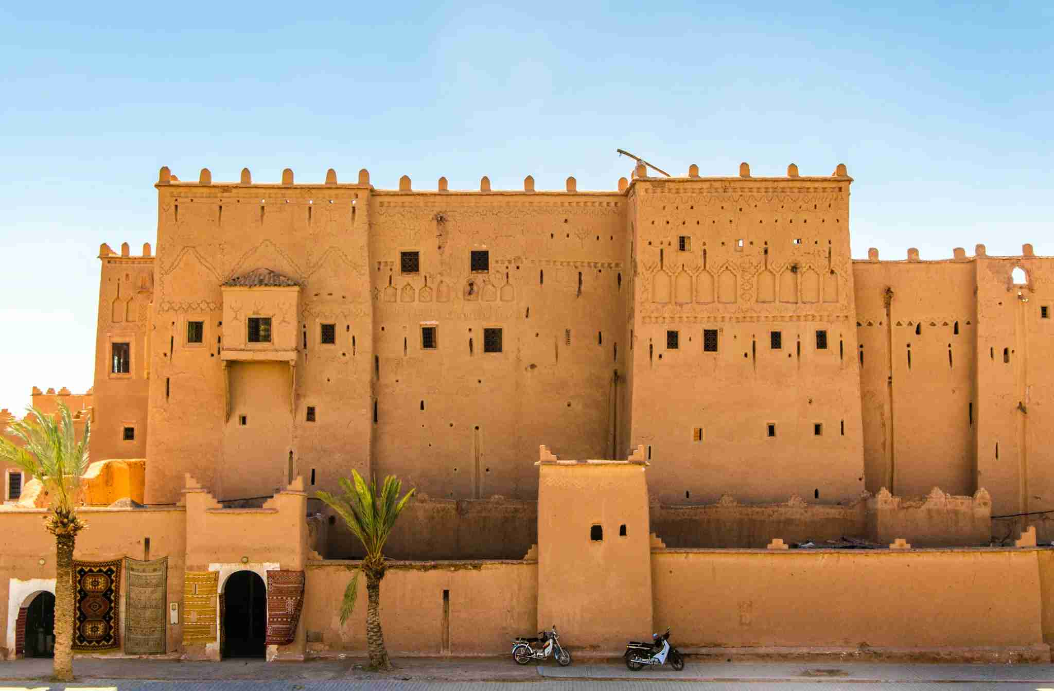 Kasbahs were built to protect the families living inside them. Image courtesy of Federica Gentile via Getty Images.