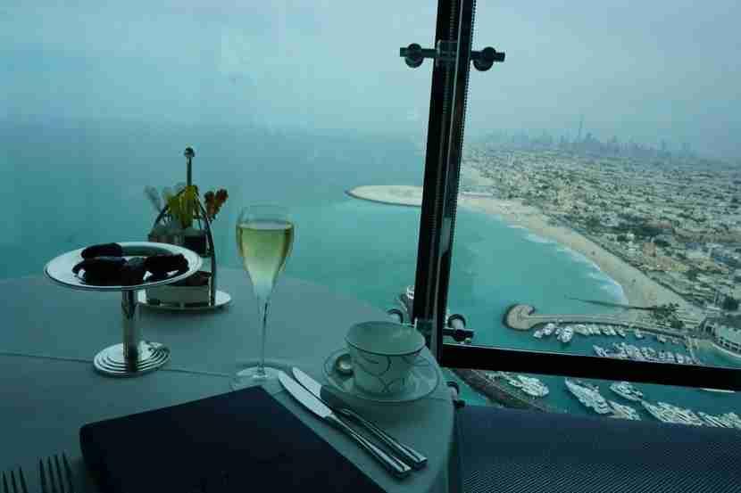 5- Before leaving Dubai, we took the afternoon tea at the Burj Al Arab-1