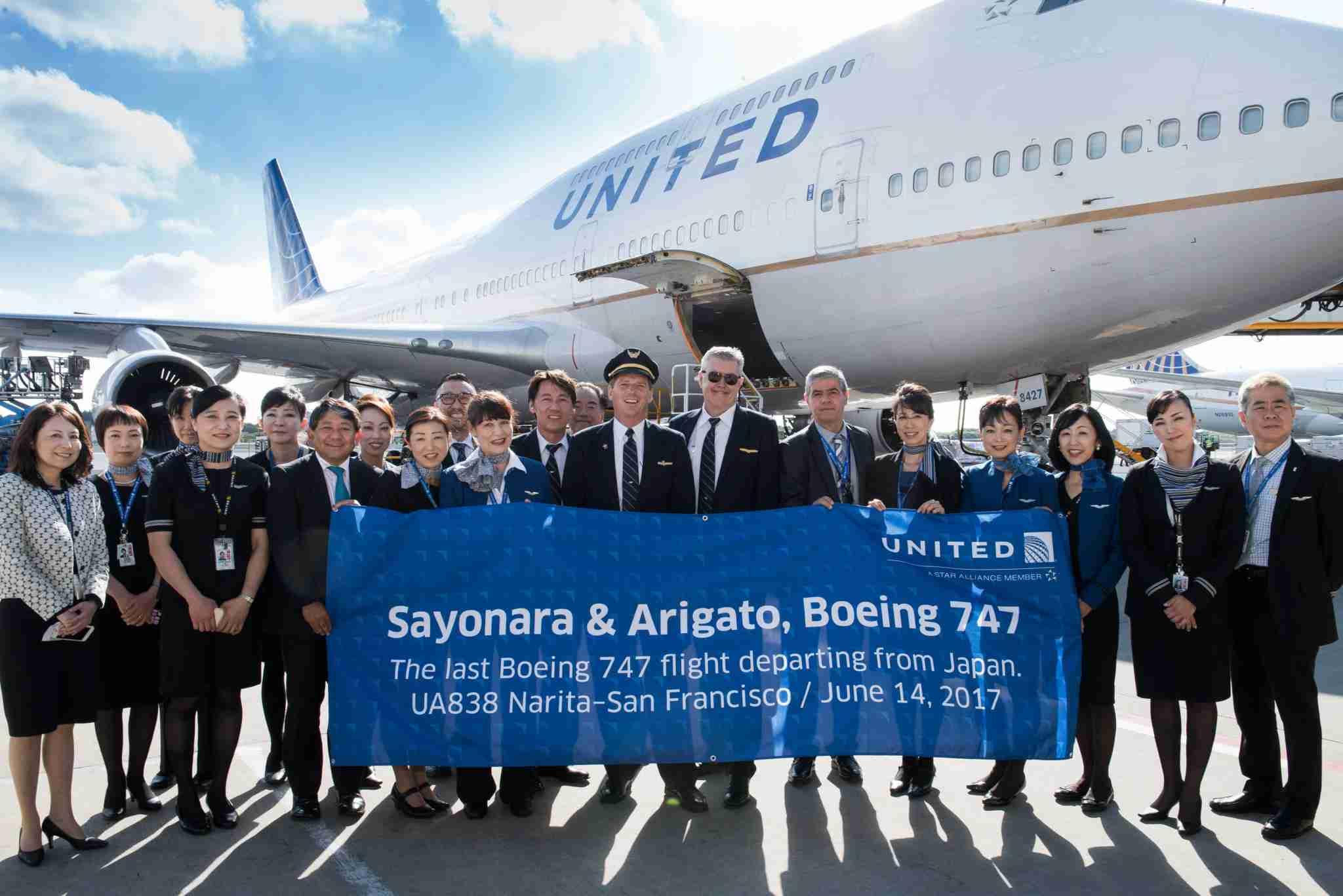 United last 747 Japan