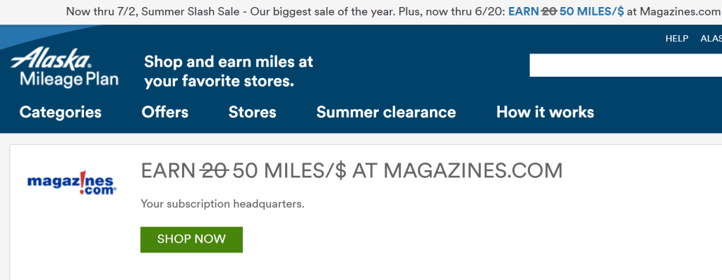 Alaska magazine offer