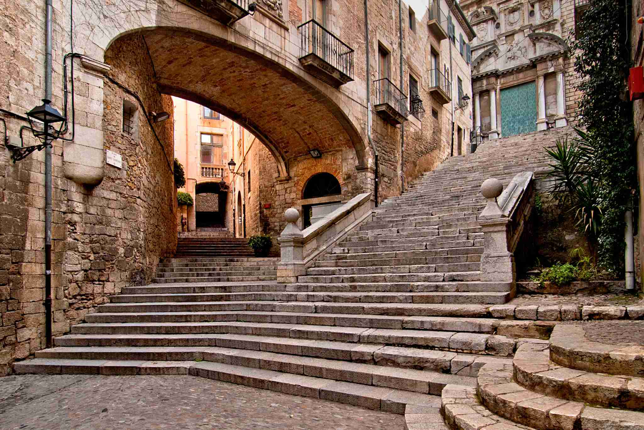 The medieval streets of Girona, which doubled as parts of King
