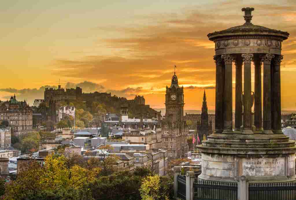 Edinburgh is the capital city of Scotland and a popular tourist destination as well as a major European financial centre. Photo courtesy of John Lawson/Getty Images.