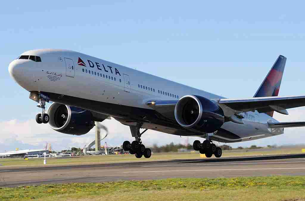 Delta Air Lines takes off on July 4, 2009 in Sydney, Australia. The worlds largest airline, Delta Air Lines, took off from Sydney