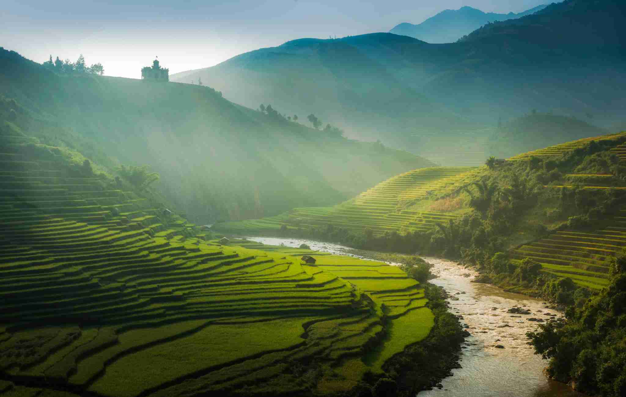 The great house on the hills, Mu Cang Chai, Yen Bai, Vietnam (Photo by Pathompat Meelarp/Getty Images)