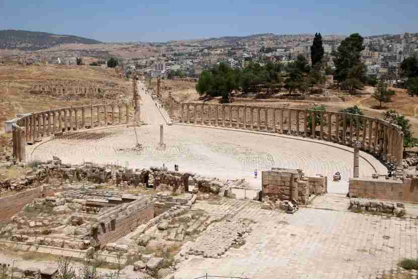 The Roman ruins of Jerash are one of the many sites included in the Jordan Pass.