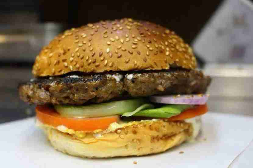 Tel Aviv is for vegans who miss their carnivorous days. Image of vegan burger courtesy of Rainbow.