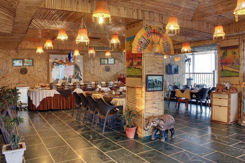 Vegetarians have full access to buffets in Rishikesh, India. Image courtesy of The Sitting Elephant.