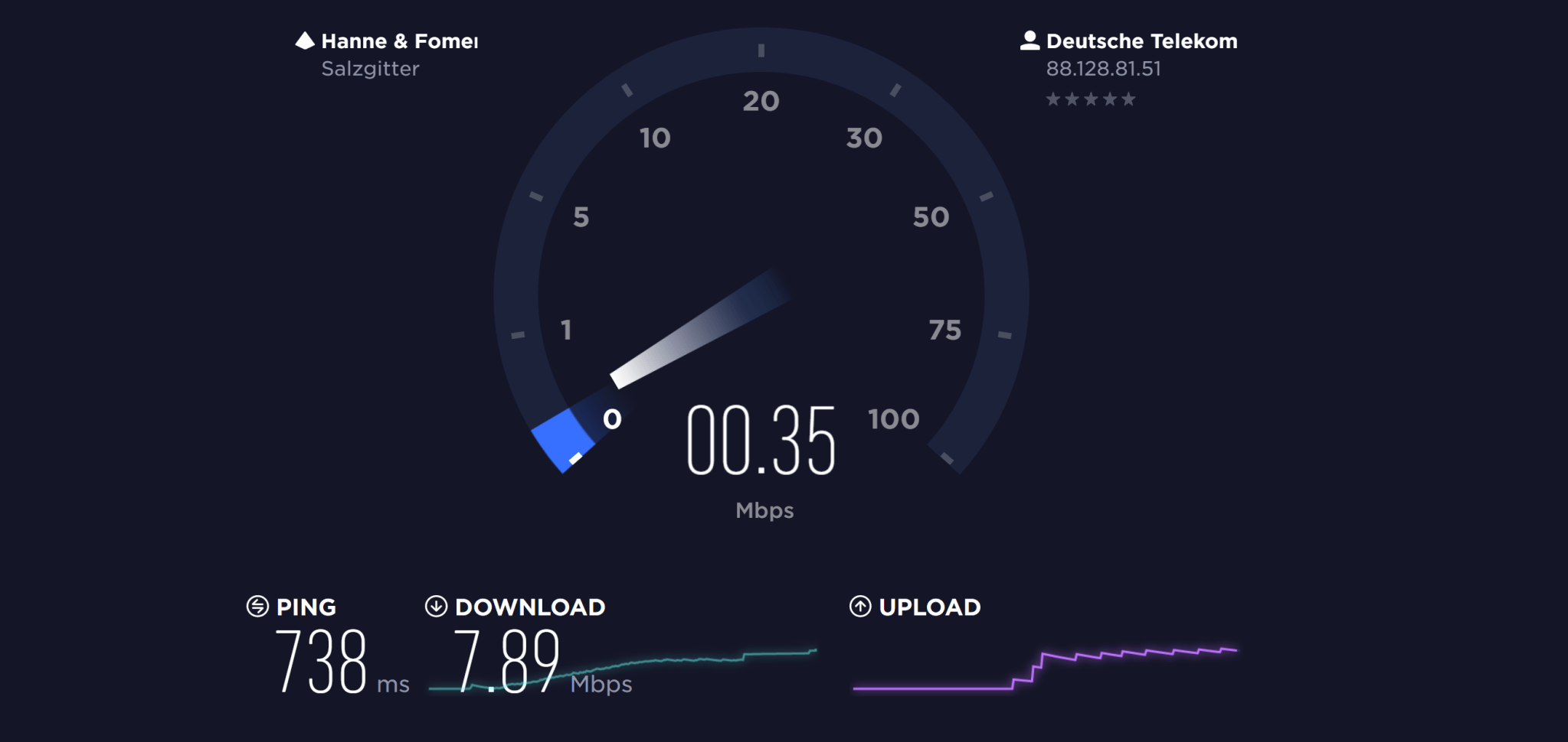 LH wifi speedtest
