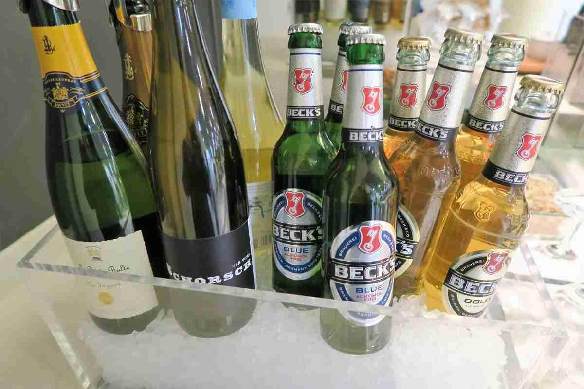 Lufthansa FRA Frankfurt Arrivals Lounge drinks