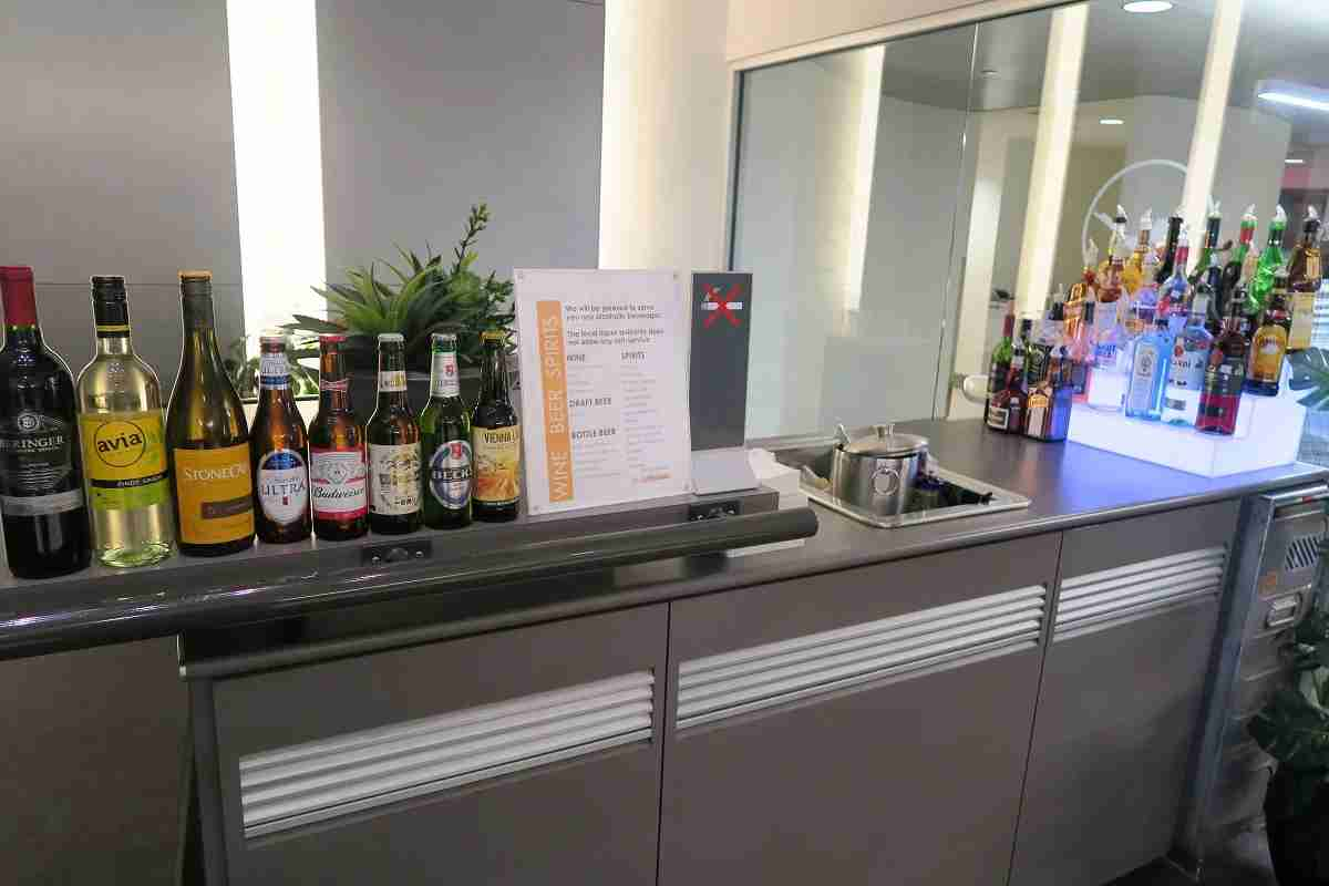 Lufthansa IAD Dulles Business Lounge bar