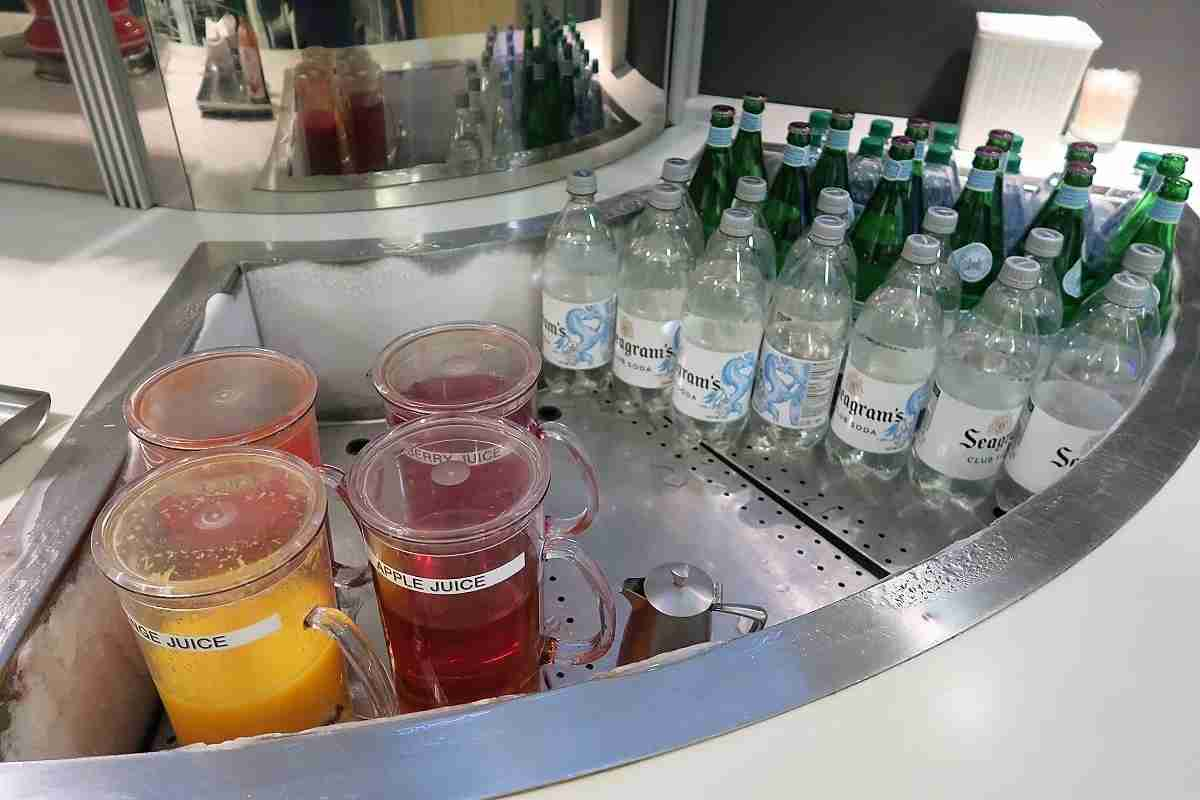 Lufthansa IAD Dulles Business Lounge self-serve drinks