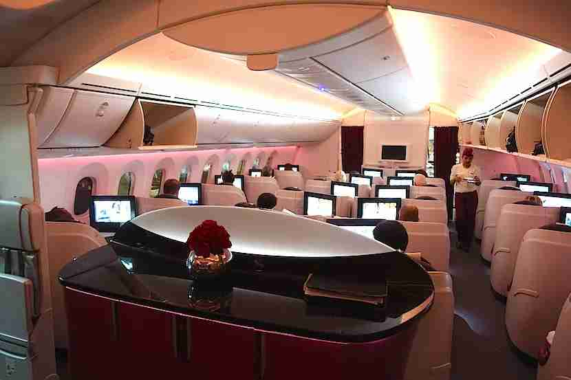 Qatar 787 cabin back