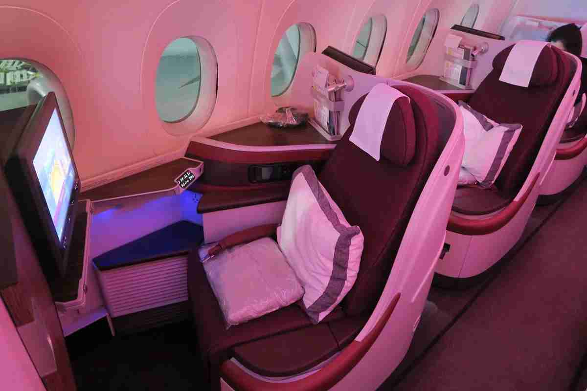 Qatar A350 business window seats