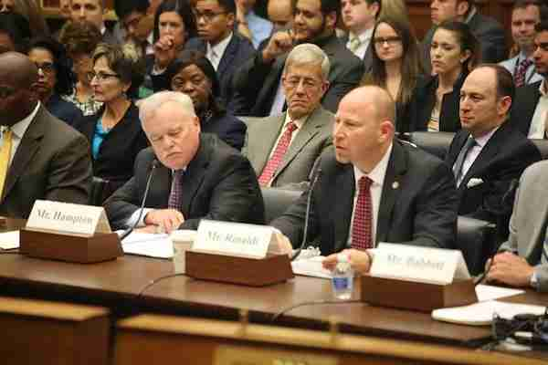 NATCA President Paul Rinaldi testifying in front of the US House Transportation and Infrastructure Subcommittee on Aviation. Image courtesy of NATCA.