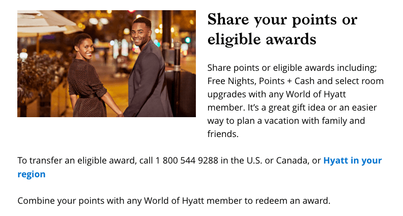 Hyatt allows you to share points with friends or family members, another reason earning points instead of certificates would be preferred.